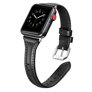 Leather Bands Apple Watch Series 6 5 4 3 2 1 iwatch , women's simple leisure strap