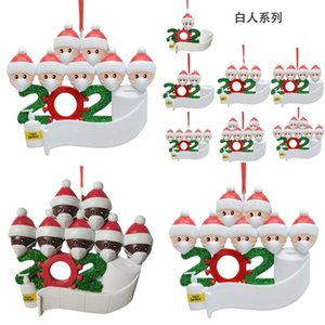 2020 Бытовая Смола Орнамент Санта-Клаус Survivor почерка Blessing слова Рождественская елка кулон DIY Новое прибытие 9 5zn J2