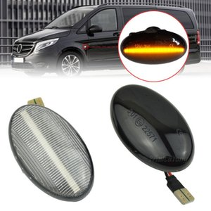 2x Dinamik LED Sinyal Lambaları Yan Marker Araç Aksesuarları İçin Akıllı W450 W452 A-Class W168 Vito W639 W447 çevirin
