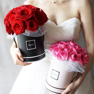 Bouquet Flores caixa de embalagem de flor artificial Stands Arranjo presentes Vaso Wedding Party Decoração Quadro Principal Rodada Caixas com tampa