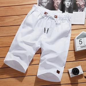 Men's Shorts 2021 Solid Color 5XL Summer Mens Beach Casual Male Elastic Waist Fashion Brand Boardshorts Plus Size