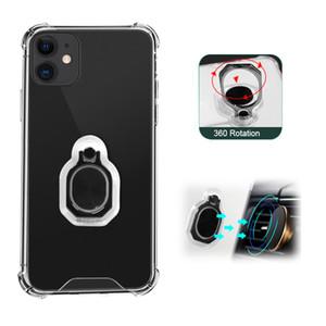Прозрачное прозрачное акриловое кольцо TPU кольцо для телефона для iPhone 12 Mini 11 Pro Max XS XR x 6 7 8 плюс