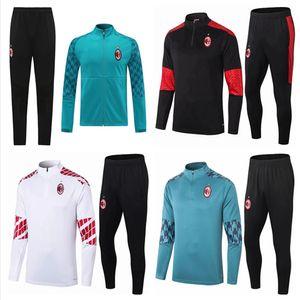 20 21 AC Soso Foot Former CalhanoGlu Jacket 2020 2021 Milan Polo Polo Football Football Tracksuit Ibrahimovic Paquetta Sportswear