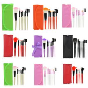 7 adet / kitleri Profesyonel Makyaj Fırçalar Seti Kozmetik Makyaj Fırça Araçları Vakıf Fırçası Yüz için Makyaj Güzellik Essentials