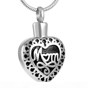 AirAz022 Wholesale or Retail Mom Necklace for Mother Ashes Holder Memorial Urns Keepsake Jewelry Cremation Locket