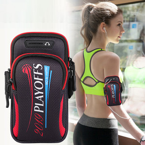 Double Pocket Sports Running Arm Band Bag Case Phone Wallet Holder Outdoor Pouch On Hand Gym Belt Cover For iPhone 12 11 Pro Max