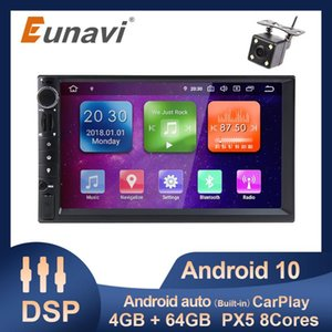 "EUNAVI 7 ""Universal 2din Car Radio Multimedia Player PX5 8 Core 4G 64G ROM Android 10 GPS Navigation HD Pantalla HD Carplay DSP Coche DVD"