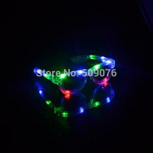 Free shipping 24pcs lot light up led flashing glasses led eyeglasses EDM Rave Party Bar Eyeswear Accessory Sunglasses