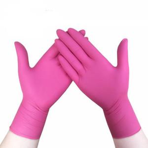100pcs jetable en caoutchouc résistant à l'usure de latex durable usa alimentaire nitrile aliments ménagers gants anti-statique rose