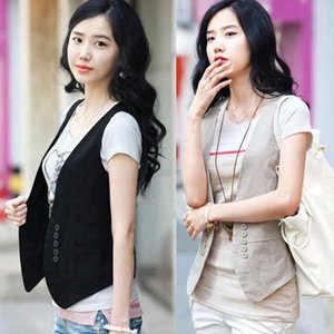 MS spring new Korean all match slim suit vest vest small size dress female Drop Shipping