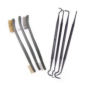 7 Pcs Airbrush Pipe Cleaning Brush Gun Brush