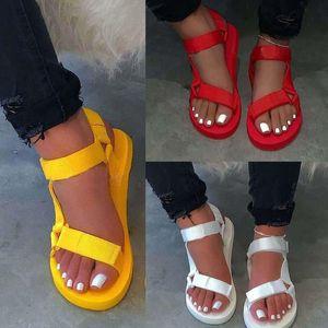 Femmes Sandales Bohemian Casual Chunky Femme Chaussures Sandales légères Femme Respirable Chaussures Santé Sandalies Sandalias Mujer