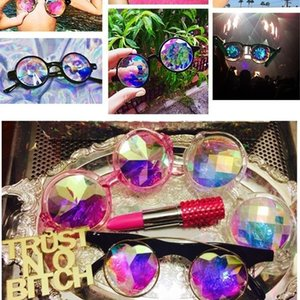 2019 Fashion music Festival Glasses travel Kaleidoscope Sunglasses party for men women