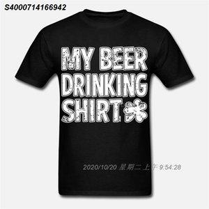 Il mio bere birra Shirt- Ubriaco St. Patricks Day Shamrock Mens T-shirt 3202010