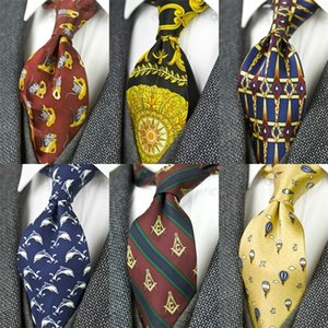 Printed Ties Vintage Pattern Abstract Character Multicolor 10 CM Mens Necktie 100% Silk Printing Free Shipping Handmade Unique 201028