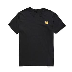 Giapponese Love Hearts T-Shirt Peach Heart Donne Donne Neck Cotton Cottone a maniche corte a maniche corte ricamo ricamo Amanti Tee Top Hip Hop Shirt