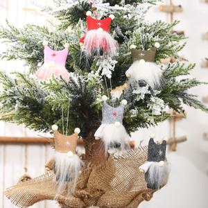 Двойной бейсболка безликая кукла висит кусок Рождество творческий кукла висячие украшения старое дерево подвеска рождественские украшения T3I51325