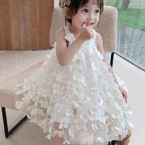 Toddler Baby Kids Girls Floral Butterfly Tulle Dress Princess Dresses Clothes1