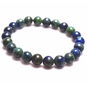 Vente en gros naturel Gem Pierre Lapis Lazuli Chrysocolla Azurite Bracelet perles rondes stretch Bracelets pour les femmes cadeau d'anniversaire