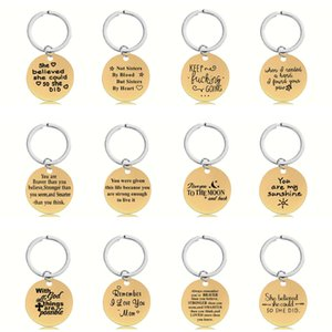 Amazon wish hot Keychain pendant customization gift Metal jewelry golden stainless steel pendant metal keychain