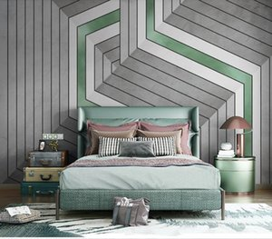 Custom New Papel De Parede Wallpaper For Walls Mural For Living Room Bedroom Abstract geometric lines murals Home Decor