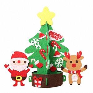 Noel Ağacı Süslemeleri Çocuk Tatil Yaratıcı Olmayan Dokuma DIY Noel Ağacı Kindergarten DIY El Yapımı Oyuncaklar C0H2 #