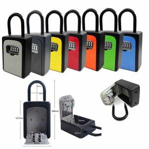 Key Lock Box große Kapazitäts-Key Storage Box mit verstellbarem Code 4-stellige Kombination Lockbox für Ersatzschlüssel Wasserdichte Wandhalterung Key Boxs