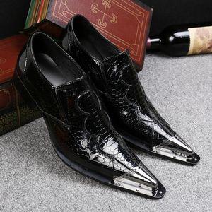Schwarz-Eisen-Kopf Steel Business Casual Herrenschuhe Größe Schuhe Trend British Leather Low
