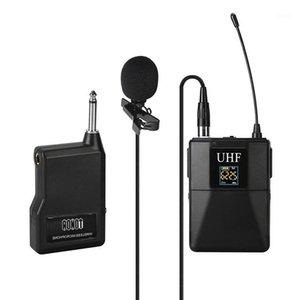UHF Mikrofon Profesyonel Kablosuz Mikrofon Sistemi Alıcı + Verici Kamera Recorder1 için