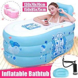 Portátil Familia Inflatable Bañera Pareja Adulto Espesado PVC Baño de baño Cálido Baño Plegable Baño para niños SPA1