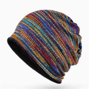 Winter Hats For Women Men Skullies Beanies Turban Hat Female Beanie Ski Cap Double Layer Bonnet Femme Hat mask scarf 3 In 1 bbypwbo