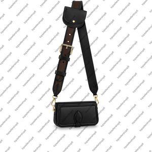 M69841 OFFICIER mini sacchetto Desinger genuino delle donne bovina tela cuoio scorrevoli tracolla trasversale del corpo della borsa della moneta frizione