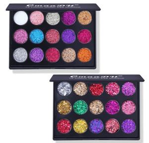 15 Colors Diamond Sequin Eyeshadow Palette High Gloss Shimmer Shiny Glitter Eye Shadow Waterproof Cosmetic Beauty Makeup
