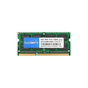 TECMIYO 4GB ram DDR3L-1600 SODIMM DDR3 PC3-12800 Non ECC Unbuffered 1.35V 1.5V CL11 2RX8 Dual Rank for Laptops Notebook