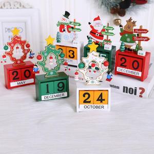 3D Christmas Wood Calendar Cute Santa Milu Deer Snowman Printed Calendar Children Gifts Party Gifts Christmas Decorations KKB2842