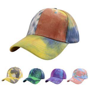 Ball Caps Hats New Tie Dye Baseball Cap Men and Woman Couple Sun Hats Fashion Camouflage Pattern Duck Tongue Hat