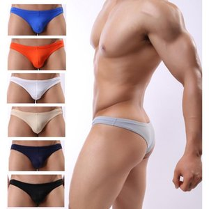 5pcs Lot High Quality Men Briefs Underwear Men's Sexy Fashion Mini Briefs Bikini Underwear Man U Convex Panties Plus Size