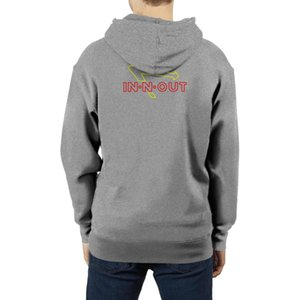 In-N-Out Burger Neon Sign Fashionable mens Fleece hooded sweater printing sports humorous Long sleeve Hoodie IN-N-OUT Palm Trees Logo IT