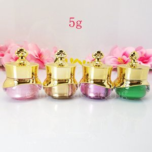 New 5g Luxury Crown acrylic cosmetic cream jar Small eye container Makeup face sample pot high quality