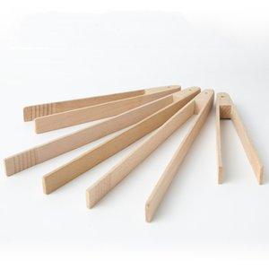 Деревянные зажимы хлеба хлеб щипцы бука деревянные десертные печенье клип торт щипцы многофункциональные кулинарные клип домашний инструмент для выпечки AHF2779