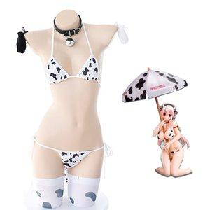 Anime Super Cow Cosplay Kostüme Japanisches Lolita Mädchen Nette Bikini Anzug Unterwäsche Sexy BH und Slip Wäsche Set Strümpfe
