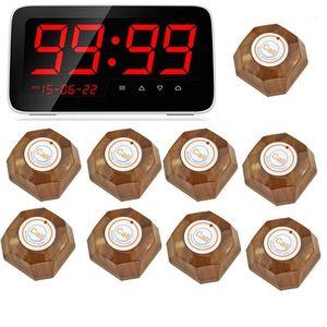 Sistema de llamadas inalámbricas Restaurante Sirviendo Restaurante inalámbrico Tarero remoto Llamada Sistema de paginación + 9pcs Call Transmitter1