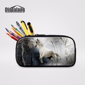 Dispalang Pen Bag Storage Horse Print Pencilbox Pencil Case For Childern Cosmetic Bag With Zipper Makeup Case Student Stationery