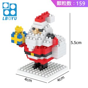 Le Baiyu Santa Claus Creative Puzzle Cartoon Children 6Assembled Toy Gift Miniature Diamond Small Particle Building Block