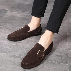 Fashion Men suede Leather Shoes Male Dress wedding Classic Business Party Office Wedding Men's Flats Shoes