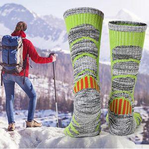 R-BAO Herbst-Winter-Männer Frauen verdickte Langlaufen Socken atmungsaktiv Feuchtigkeitsaufnahme Warm Erwachsene Socke