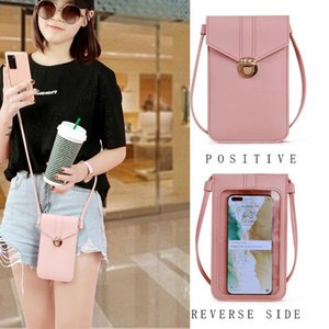 Ladies Touch Screen Cell Phone Purse Smartphone Wallet PU Leather Shoulder Strap Handbag Women Bag Fashion mobile wallet 2020