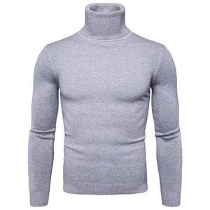 Favocent Winter Warme Rollkragenpullover Männer Mode Masselassen Strickmaser Pullover Casual Männlicher Doppelkragen Slim Fit Pullover 201221