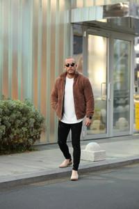 2020 Double Wear face Woollen Furry Veste polaire de manteau chaud pour les hommes d'hiver en peluche USA- hommes de style européen Brand New Coat