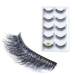 Liyatton 3D Mink Fake Eyelash 5 Pairs Waterproof Lashes Makeup Maquiagem Extension Accessories Thick Soft Natural False Eyelashe